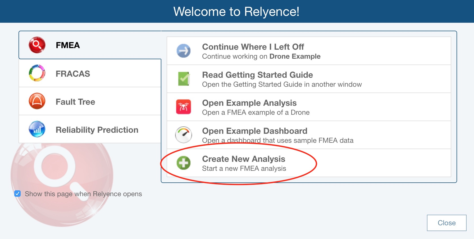 Getting Started With Relyence Dashboard Relyence Help