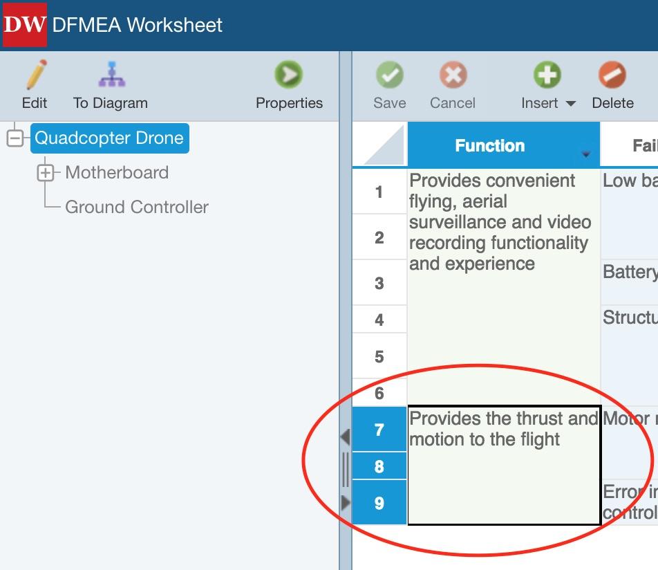 Entering Fmea Data